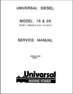 Universal diesel engine 15 service manual