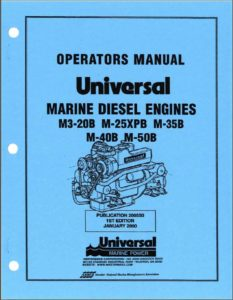 Operator's Manual Universal diesel engine M3-20B Service Manual