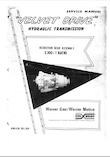Borg Warner Velvet Drive reduction gear service manual