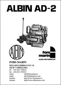 Albin AD-2 marine diesel engine Parts Manual