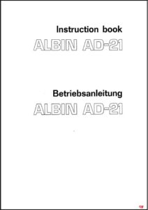 Albin AD-21 diesel engine cover