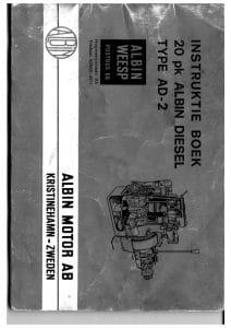 Albin AD2 dieselmotor Instruktie Boek Dutch