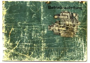 Albin AD21 marine diesel engine Operating Instruction in German