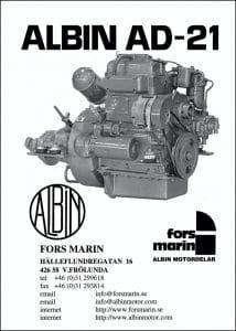 Albin AD21 marine diesel engine Parts Catalog +Swedish
