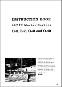 Albin O-11 diesel engine instruction book cover