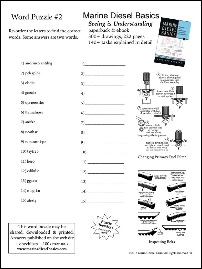 Marine Diesel Basics Anagram #1