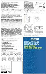 BEP Duel Charging Relay Brochure
