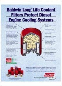 Baldwin diesel engine Coolant Filter Brochure