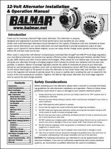 Balmar 12V Alternator Installation