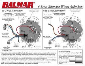 Balmar 6 Series Wiring Addendum
