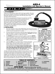 Balmar ARS 4 Alternator Installation Guide