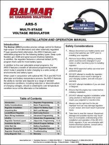 Balmar ARS-5 Alternator Regulator Instructions
