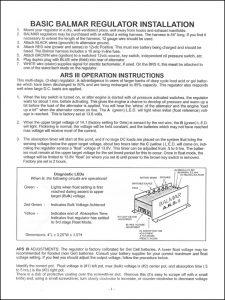 Balmar BRS2 Regulator Installation