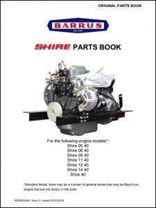 Barrus Shire 05-40 diesel engine Parts Book