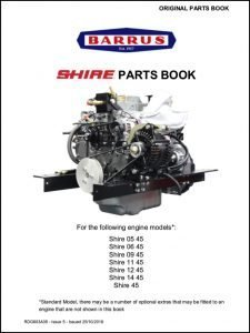 Barrus Shire 05-45 marine engine Parts Book