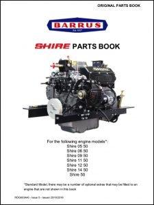 Barrus Shire 05-50 marine diesel engine Parts Book