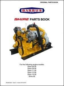 Barrus Shire 06-90 diesel engine Parts Book