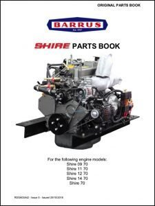 Barrus Shire 09-70 diesel engine Parts Book