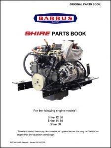 Barrus Shire 12-30 diesel engine Parts Book