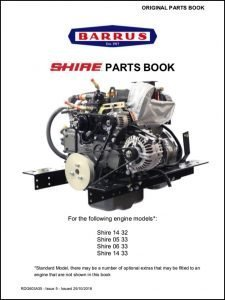 Barrus Shire 14-32 canal boat diesel engine Parts Book