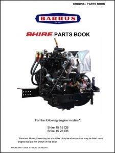 Barrus Shire 15-15 CB diesel engine Parts Book