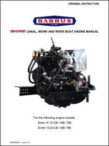Barrus Shire 15 canal boat diesel engine Instruction Book