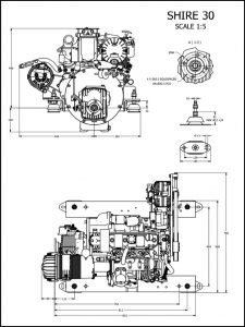 Barrus Shire 30 diesel engine Drawing