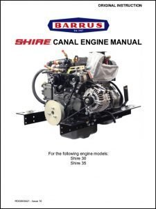 Barrus Shire 30 canal diesel engine Manual