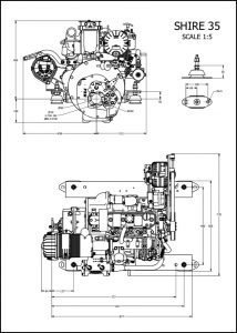 Barrus Shire 35 diesel engine Drawing