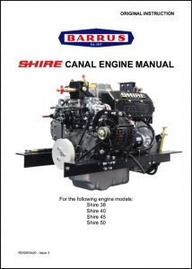 Barrus Shire 38 Canal boat Diesel engine Manual