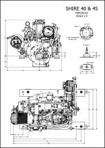 Barrus Shire 40 diesel engine and PRM120 D2 Installation Drawing