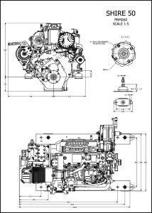 Barrus Shire 50 diesel engine with PRM260 transmission Drawing