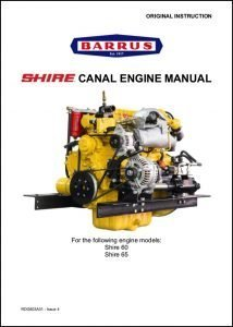Barrus Shire 60 canal diesel engine Manual