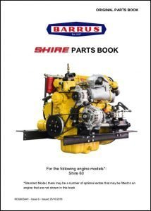 Barrus Shire 60 canal diesel engine Parts Book