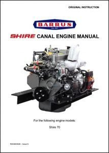 Barrus Shire 70 canal boat engine Manual