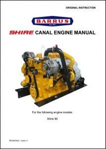 Barrus Shire 90 canal diesel engine Manual