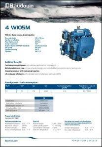 Baudouin 4W105M marine diesel engine Brochure