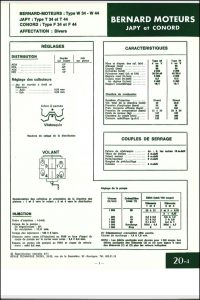 Bernard Moteurs W34 diesel Specifications