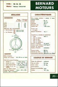 Bernard Moteurs WD13 diesel Specifications