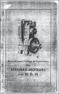 Bernard Moteurs WD14 diesel Manuel