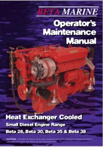 Beta 28 Marine diesel Engine with Heat Exchanger Operators Manual