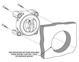 Blue Sea 9000 E Mounting Drawing