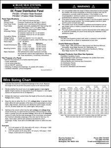 Blue Sea DC Power Distribution Panel PN8261 Installation Instructions