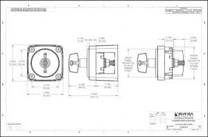 Blue Sea M Series Battery Switch 6005 Drawing