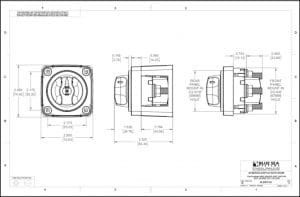 Blue Sea M Series Switch Knob 6006 Drawing