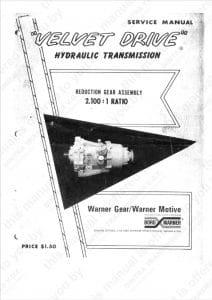 Borg Warner 70C 2.100 Marine Transmission Service Manual