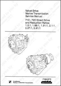 Borg Warner 71C 1.5 Marine Transmission Service Manual