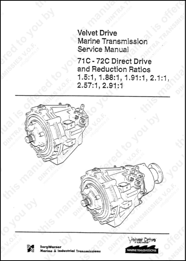 Borg Warner 71c 1 5 Marine Transmission Service Manual