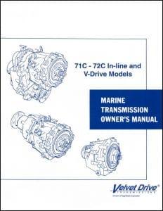 Borg Warner 71C Inline V drive Marine Transmission Owners Manual