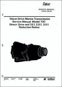 Borg Warner 73C marine transmission Service Manual